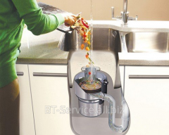 Installation of a grinder of food waste