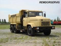 Major repair of the unit Kraz 6505