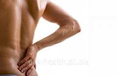 Treatment of pains in a neck or lumbar area