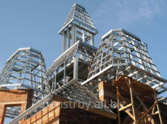 Construction of industrial buildings from metal