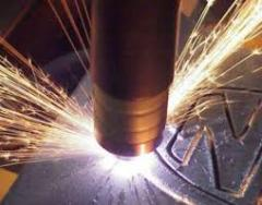 Services in cutting of metal designs, buying up