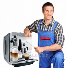 Service coffee machines: Philips Saeco, Jura,