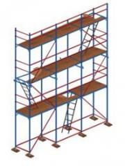 Аренда строительных лесов рамного типа для выполнения фасадных работ