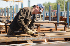 Services in metal rolling cutting, metal scrap,