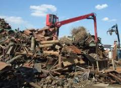 Processing of scrap metal, dismantling, cutting,