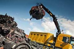 Metal cutting, processing of scrap metal in Ukrin