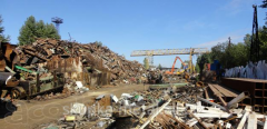 Cutting of scrap metal, buying up and processing