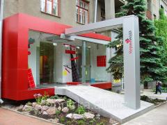 Facing of a facade of multistorey buildings