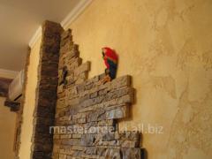 Декоративный камень в интерьере.
