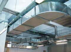 Монтаж та поставка вентиляційного обладнання. Монтаж систем вентиляції, кондиціювання, опалення, водопостачання. Виготовлення повітропроводів, комплектуючих систем вентиляції з оцинкованої та нержавіючої сталі.