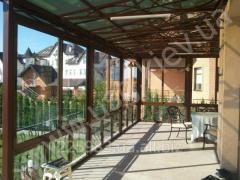 Glazing of terraces