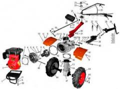 Service of a motor-cultivator