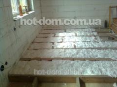 Warming of a floor, insulating works in Ukraine