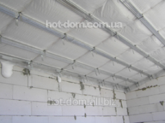 Warming of a ceiling, heat-insulating works in the
