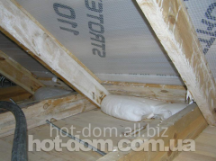 Works are insulating, filling of a floor foam