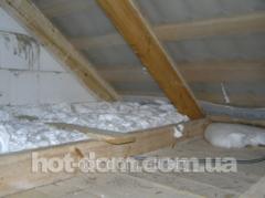 Penopostirolovy warming, heat-insulating works