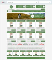 Дизайн и верстка для зоо интернет-магазина