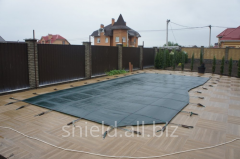Install protective coverings Shield Pool
