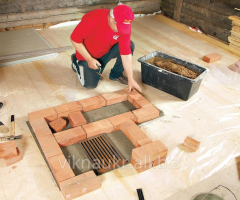 The laying of furnaces, the fireplace device from