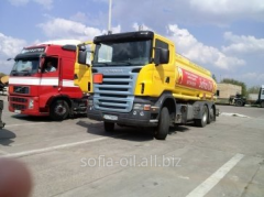 Delivery of diesel fuel across Kiev, the Kiev