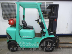 Rent of loader of Mitsubishi FG25K, gas, 2000,