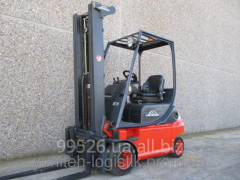 Rent of loader of Linde E18P-02, electro, triplex,
