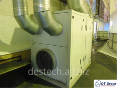 Commissioning of dehumidifiers of air