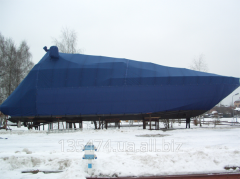 Production of parking awnings, covers for yachts
