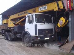 Rent of the truck crane in Bershad, Gnivan,