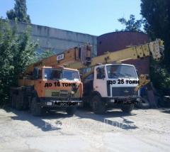 Rent of the truck crane in Kalinovk, Kazatin,