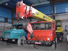 Rent of the truck crane in the Rovno area