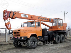 Rent of the truck crane to Mlinov, Kuznetsovsk,