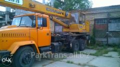 Rent of the truck crane in Radivilov, Sarna,