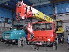 Rent of the truck crane in Exactly, Korets,