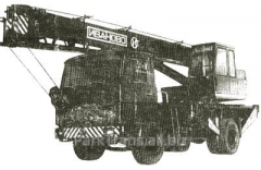 Rent of the truck crane in Mena, Linovits,