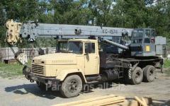 Rent of the truck crane in Semenovk, the Incense,