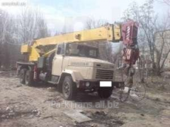 Rent of the truck crane in Korop, the Resident of