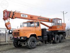 Rent of the truck crane in the Chernivtsi region