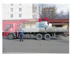 Transportation of a tranformator Fastov