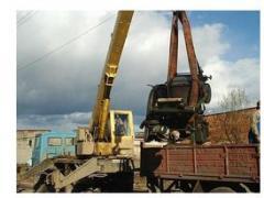 Loading of the machine crane Fastov