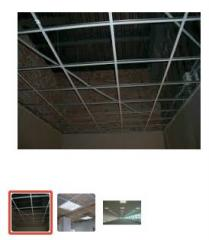 Installation of a false ceiling