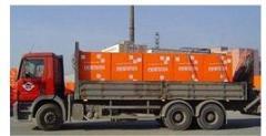 Unloading of foam concrete blocks crane Fastov