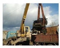 Unloading of the machine crane Fastov