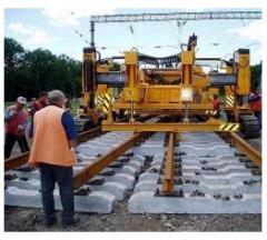 Capital repairs of railway tracks Fastov
