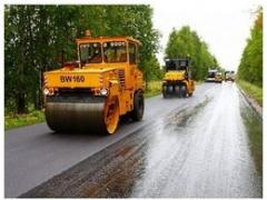 Construction of roads asphalt crumb