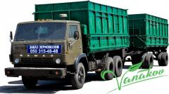 Cargo transportation, grain-carriers dump trucks,