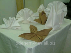 Services in tailoring of napkins