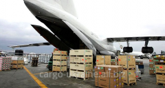 Repacking of freight at airport of departure