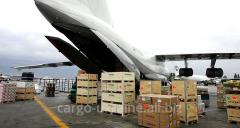 Обработка и размещение грузов на складе аэропорта прибытия