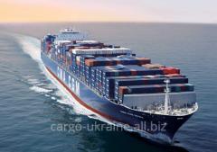 Морская перевозка стран Европы в Украиину